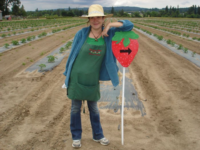 U-pick oregon strawberries